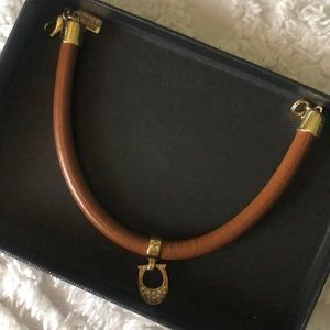 Authentic Coach leather gold signature bracelet